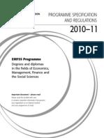 EMFSS 2010 Regulations