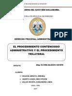 Proceso Contencioso y Trilateral