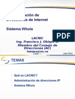 Administracion de Direcciones de Internet