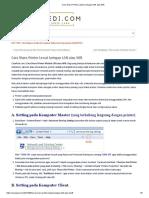 Cara Share Printer Lewat Jaringan LAN Atau Wifi