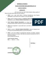 Affidavit- Shares (Proxy)