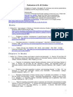 List of Publications of Dr. M S Sridhar