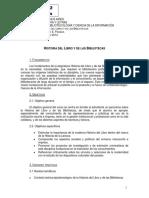 08054035 Programa de Historia Del Libro y Las Bibliotecas 2014