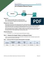 5.1.1.7 Lab - Using Wireshark to Examine Ethernet Frames