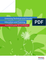 Greening Technical and Vocational Education and Training
