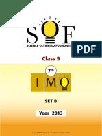 7th IMO 2013 Set B Class 9