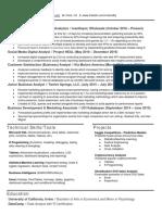 David Ly - Senior Analyst Resume