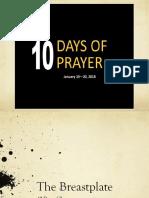 10 Days of Prayer - Breastplate