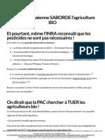 L'Union européenne est contre l'agriculture BIO