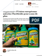 Glyphosate -l'Union européenne autorise l'herbicide pour 5 ans de plus