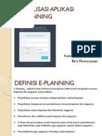 E-Planning - Sosialisasi - 19012017 - Gambaran