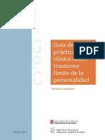 Guía de práctica clínica para trastornos de personalidad límite