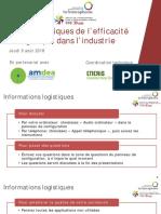 730 IFDD Seminaire en Ligne Efficacite Energetique Industrie 9 Aout 2018