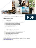 Job Advert - Various Position