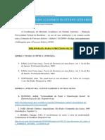 Bibliografia Processo Seletivo Do MEL Turmas 2018 e 2019