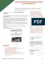 Rapport de Stage Génie Civil - Étude d'un Mur de Soutènement