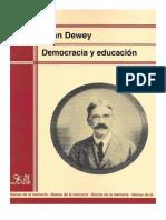 Dewey Decomocracia y Educación Sumario