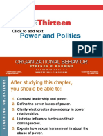 13. Power and Politics