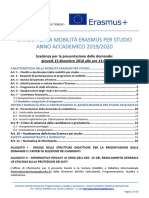 Bando Erasmus Torino 2019 2020