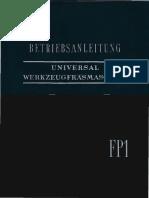 Deckel FP1 Betriebsanleitung Baujahr 1962