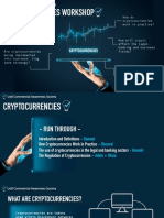 Cryptocurrencies Workshop - Commercial Awareness Society