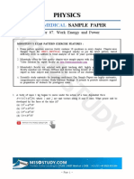 2019 NEET Sample Paper Physics, Work Energy Power