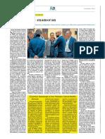 El pírrico homenaje a Don Mariano García Benito en prensa escrita.