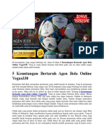 5 Keuntungan Bertaruh Agen Bola Online Vegas338