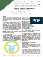 Cloud Intrusion and Autonomic Management in Autonomic Cloud Computing