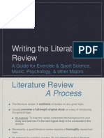 Writing a Literature Review in Psychology and Other Majors