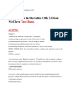 First Course in Statistics 11th Edition Test Bank