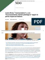 Juana Rivas, _manipuladora_ y Con _funcionamiento Mental Patológico_ Según La Perito Imparcial Italiana _ Andalucía