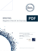 Briefing-Migrants UK Overview