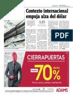 Contexto Internacional Empuja Alza Del Dólar