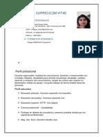 Curriculum Vitae Miliy y Job