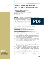 A Novel PWM Multilevel Inverter for PV Application