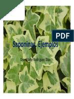 Ejemplos de Drogas Vegetales y Fitofármacos Que Contienen Saponinas_2018