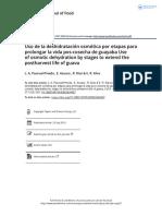 Uso de la deshidrataci n osm tica por etapas para prolongar la vida pos cosecha de guayaba Use of osmotic dehydration by stages to extend the.pdf