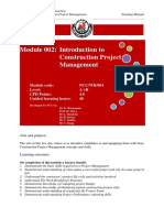 002 Training Manual Introduction to Construction Project Management