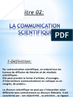 Chapitre 02 -La Communication Scientifique
