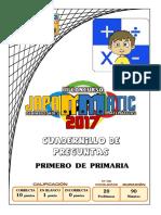 Cuadernillo Primero de Primaria 2017