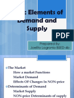 Basic Elements of Demand and Supply