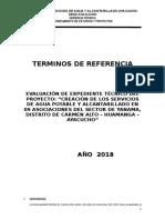 Tdr_evaluación de-Agua-y Alcantarillado Yanama
