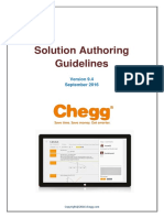Chegg Solution Authoring Guidelines V9.4