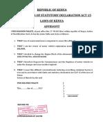 Affidavit Change of Engine & Lostbook