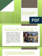 hitos de la seguridad social en perú