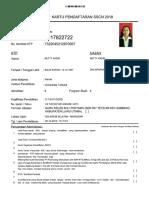 Kartu Pendaftaran Ok