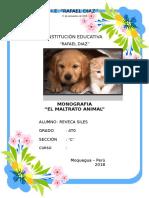 Monografia - Maltrato Animal- Reveca Siles