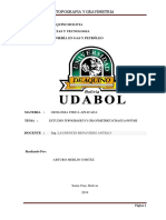 Estudio Geografico y Gravimetrico Chagua-potosi