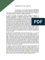 Ejemplo de Diagnostico de grupo para evaluacion permanencia del desempeño docente